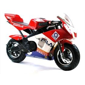 FunBikes MT4A 50cc 46cm Red White Mini Moto Racing Bike