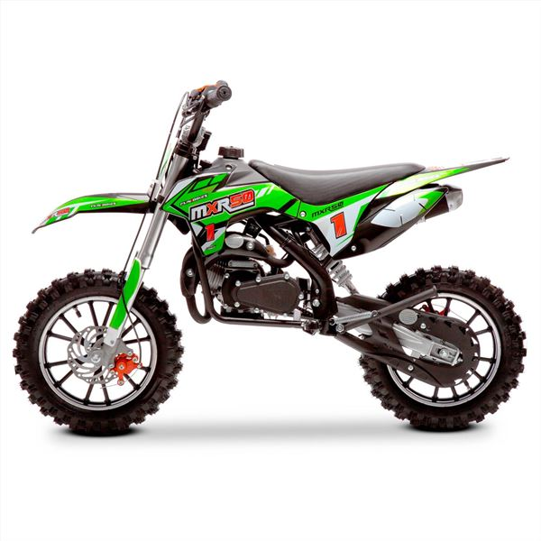FunBikes MXR 50cc 61cm Green Black Kids Mini Dirt Motorbike