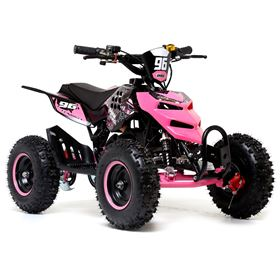 FunBikes 49cc Pink Kids Big Wheel Mini Quad Bike
