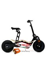 Velocifero MAD 48 Volt 1600W Lithium Battery Red Electric Scooter