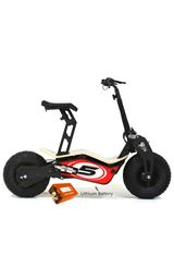 Velocifero MAD 48 Volt 1600W Lithium Battery Red Race Electric Scooter