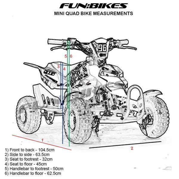 funbikes 49cc green kids mini quad bike