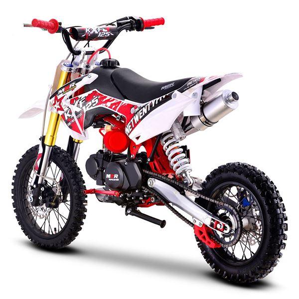 m2r racing kxf125 120cc 76cm red pit bike. Black Bedroom Furniture Sets. Home Design Ideas
