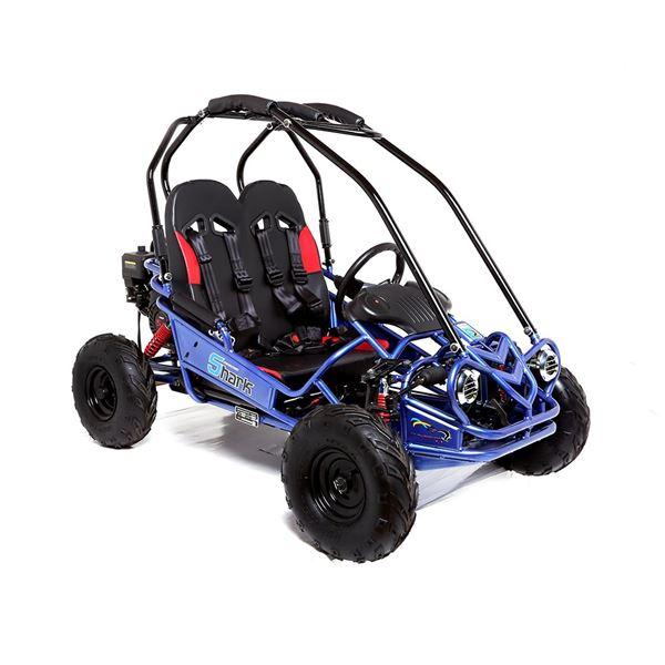 Funbikes Shark Rv50 156cc Petrol Blue Mini Off Road Buggy