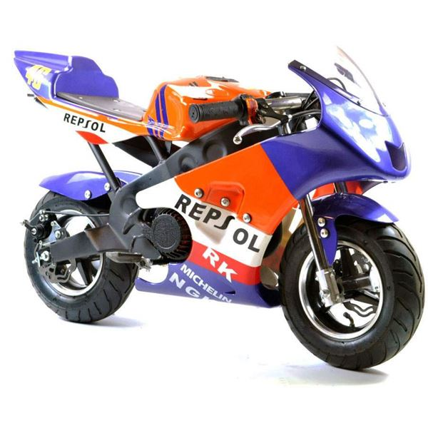 FunBikes MT4A 50cc 46cm Mini Moto Repsol Racing Bike