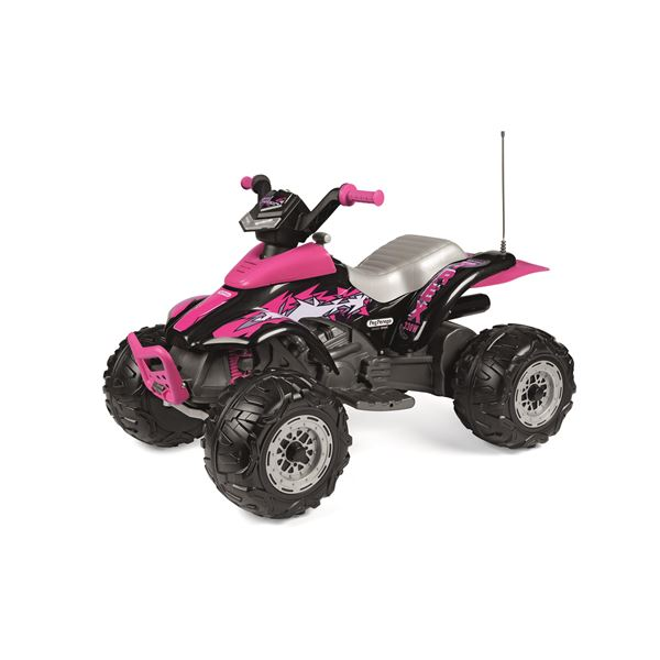 Peg Perego Corral T-Rex 330w 12v Pink Kids Ride On Quad