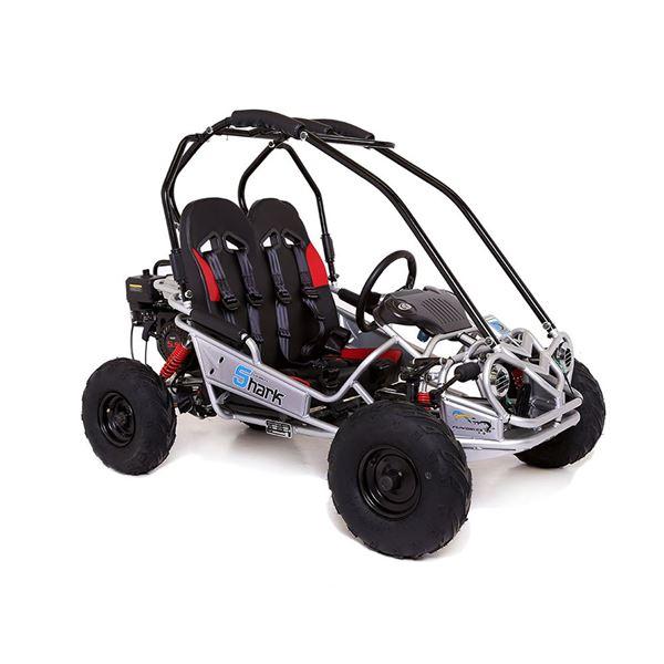 funbikes shark rv50 156cc petrol silver mini off road buggy. Black Bedroom Furniture Sets. Home Design Ideas