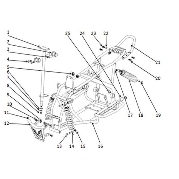 Funbike 70cc Quad Bike Spare Parts