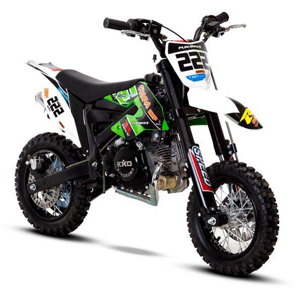 funbikes cobra 4s 50cc 62cm green kids mini dirt bike. Black Bedroom Furniture Sets. Home Design Ideas