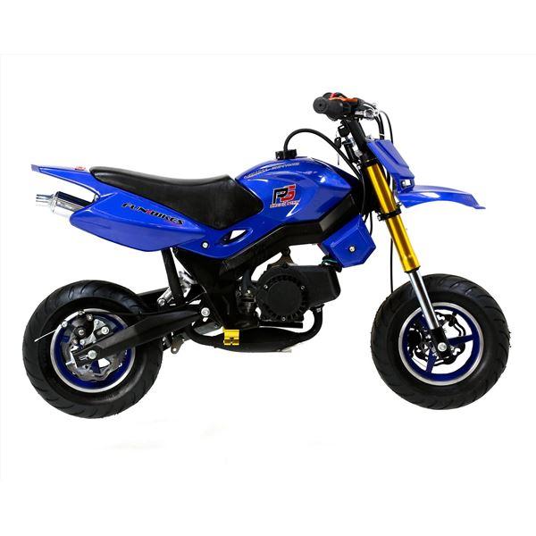 funbikes super motard 50cc 48cm blue mini moto bike. Black Bedroom Furniture Sets. Home Design Ideas