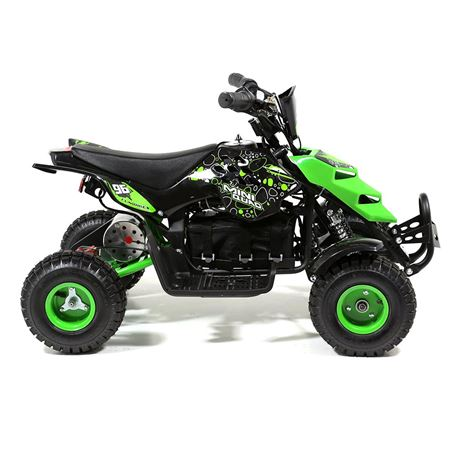 FunBikes 800w Green Electric Kids Mini Quad Bike