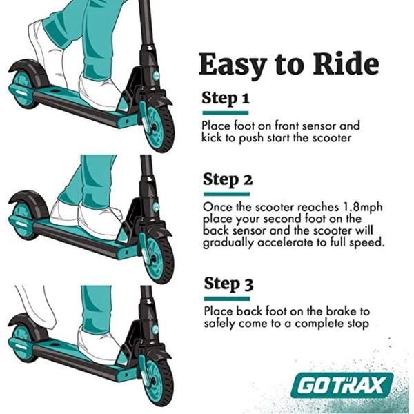 Gotrax 25v 150w Lithium Blue Kids Electric Scooter