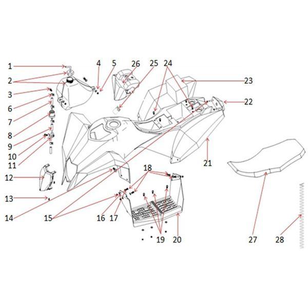 Funbikes T Max Quad Bike Ignition Barrel Key