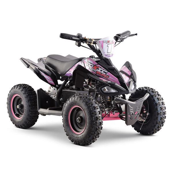 Funbikes Toxic 800w Black Pink Kids Electric Mini Quad Bike V2