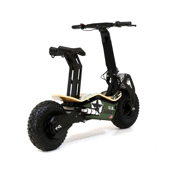Velocifero MAD 48 Volt 1600W Lithium Battery US Army Electric Scooter