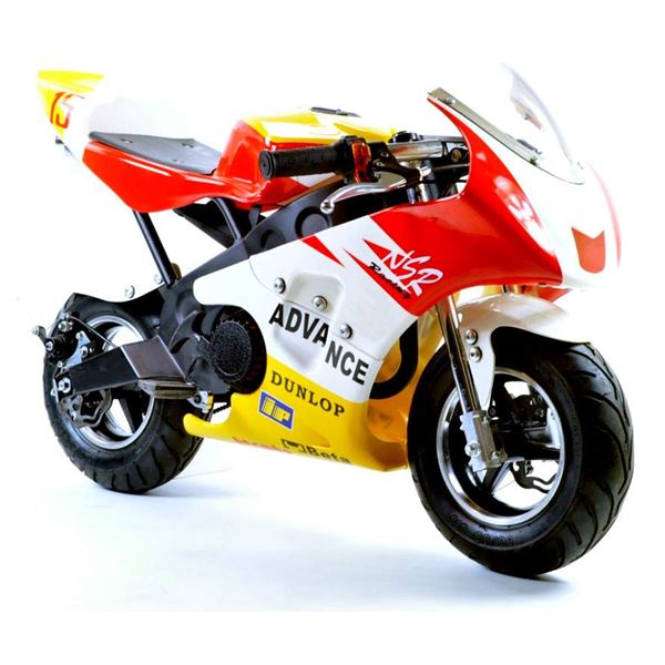 funbikes mt4a 50cc 46cm red yellow mini moto racing bike. Black Bedroom Furniture Sets. Home Design Ideas