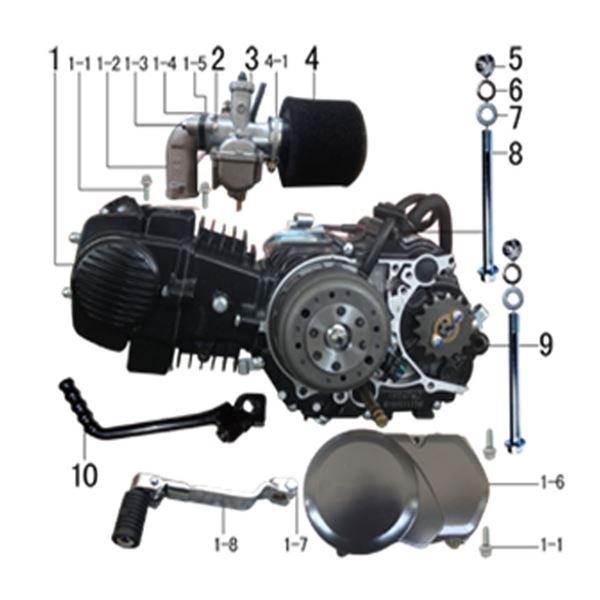 M2R RF160 S2 Pit Bike 160cc Oil Cooled Engine